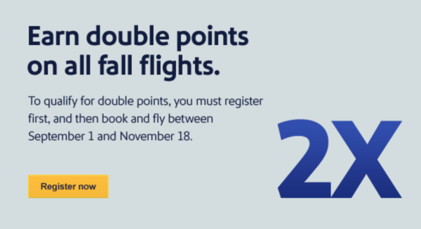 Southwest Double Points Promo