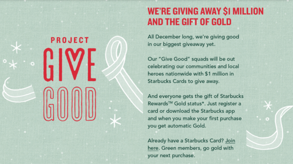 Starbucks Is Giving Away Gold Status Again